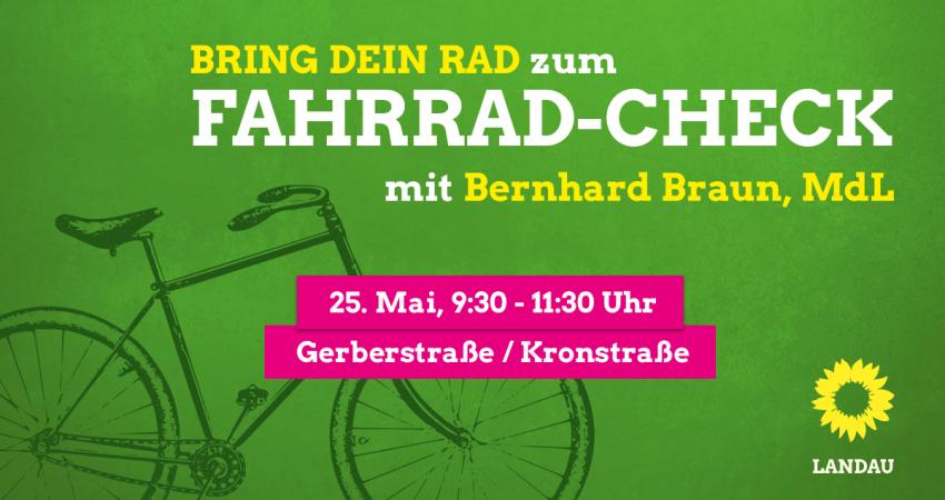 Fahrrad-Check mit Bernhard Braun