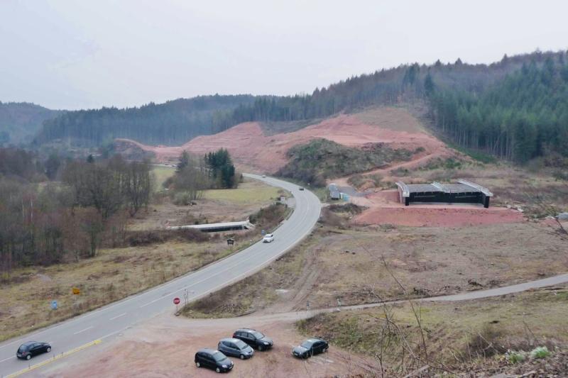 B10: Alte Trasse und Neubau bei Hauenstein